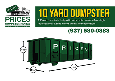 10 Yard Roll Off Dumpster Rental Dayton OH