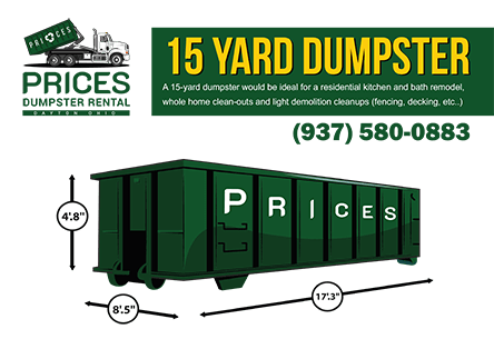 15 Yard Roll Off Dumpster Rental Dayton OH