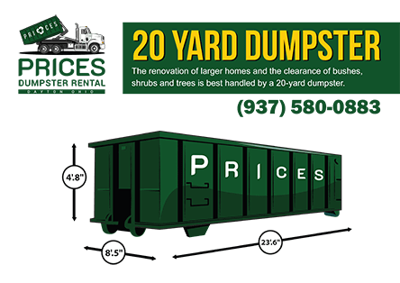 20 Yard Roll Off Dumpster Rental Dayton OH