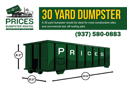 30 Yard Roll Off Dumpster Rental Dayton OH