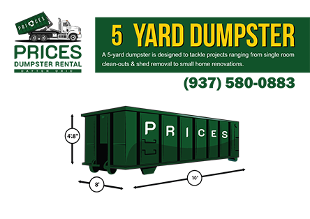 5 Yard Roll Off Dumpster Rental Dayton OH